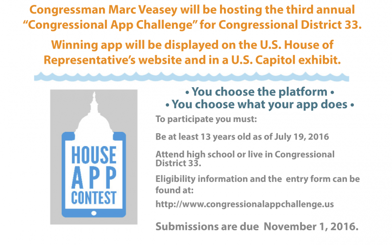 2016 Congressional App Challenge - Rep. Veasey