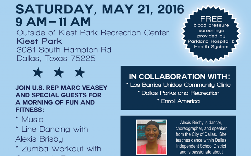 2016 Dallas County Walk and Fitness Day Flyer