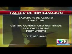Univision 23 (KUVN): Taller de Inmigracion de Congresista Marc Veasey