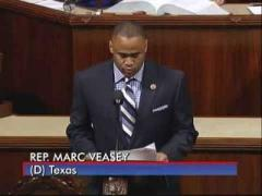 Rep. Marc Veasey speaking in memorium of Ft. Worth Citizen Mr. Jerry Russell