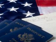 passport and american flag